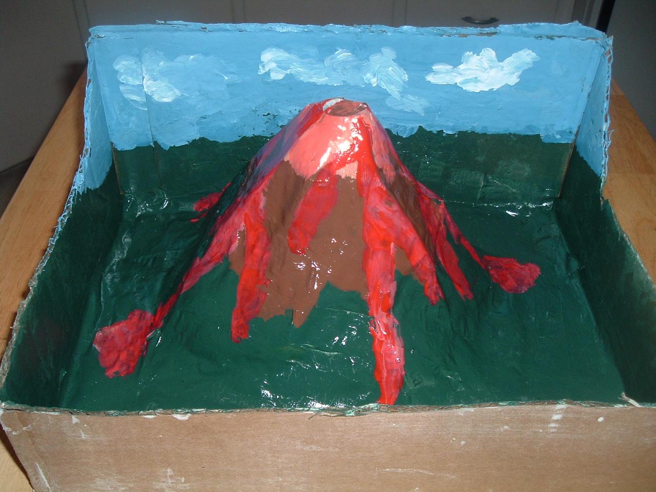 Как сделать макет вулкана пластилин