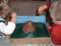 how-to-make-a-volcano-paper-mache-step-8